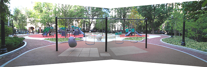 JRA Goudy Square Park Playground Swings